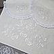 Набор для венчания. Венчальный рушник:  45 x 200 см. Салфетка (диаметр 25 см.)
