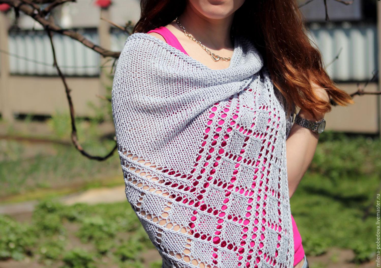 Knitted shawl Silver, Shawls, Minsk,  Фото №1