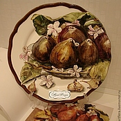 Посуда handmade. Livemaster - original item The painted porcelain.Plate porcelain