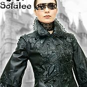 Одежда handmade. Livemaster - original item Jacket female from a genuine leather with laces. Jacket Gothic.. Handmade.