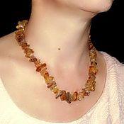Работы для детей, handmade. Livemaster - original item Amber beads raw wild natural stone. Handmade.