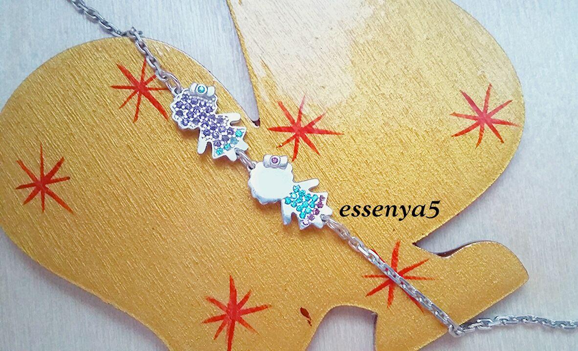 Серебряный браслет для мамы девочки дети