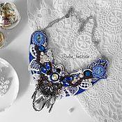 Украшения ручной работы. Ярмарка Мастеров - ручная работа Колье в стиле винтаж - синее. Handmade.