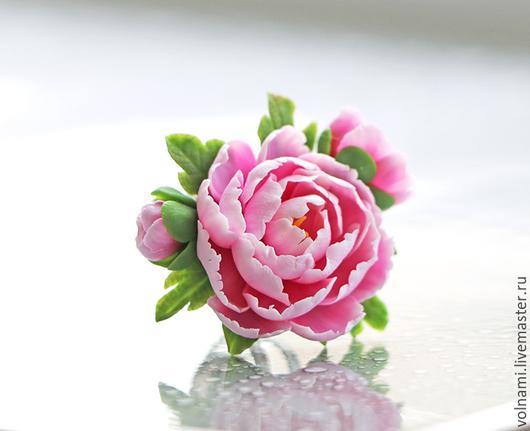 """Кольца ручной работы. Ярмарка Мастеров - ручная работа. Купить """"Пионы"""" кольцо. Handmade. Розовый, подарок"""