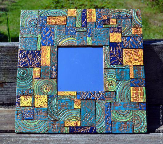 Зеркала ручной работы. Ярмарка Мастеров - ручная работа. Купить Декор зеркала. Handmade. Разноцветный, мозаичное панно, Декор