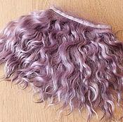 Материалы для творчества handmade. Livemaster - original item Mohair tress (lavender) (Hair for dolls). Handmade.