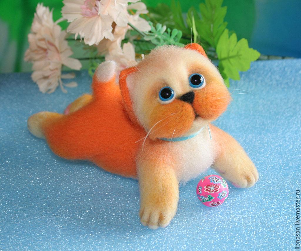 Ой!..Я немного упал!.. (котёнок игрушка), Мягкие игрушки, Владивосток,  Фото №1
