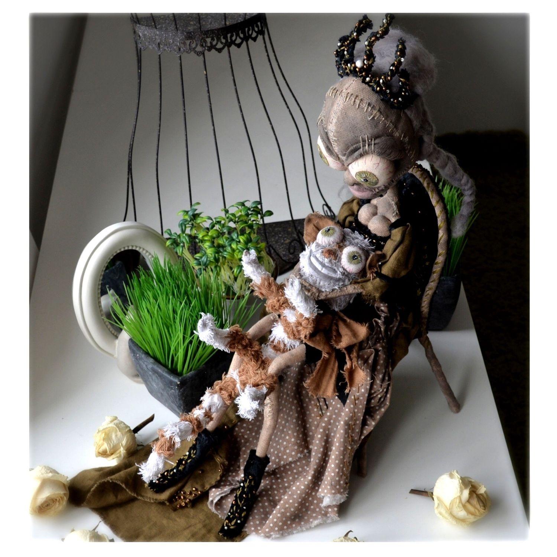 Коллекционная интерьерная текстильная художественная кукла, Интерьерная кукла, Старый Оскол,  Фото №1