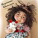 Коллекционные куклы ручной работы. Ярмарка Мастеров - ручная работа. Купить кукла Марта. Handmade. Бежевый, кукла в подарок