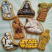 Пряники ручной работы. Ярмарка Мастеров - ручная работа Имбирное печенье Звёздные войны ( Star Wars). Handmade.