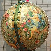 Подарки к праздникам ручной работы. Ярмарка Мастеров - ручная работа Большой елочный шар. Handmade.