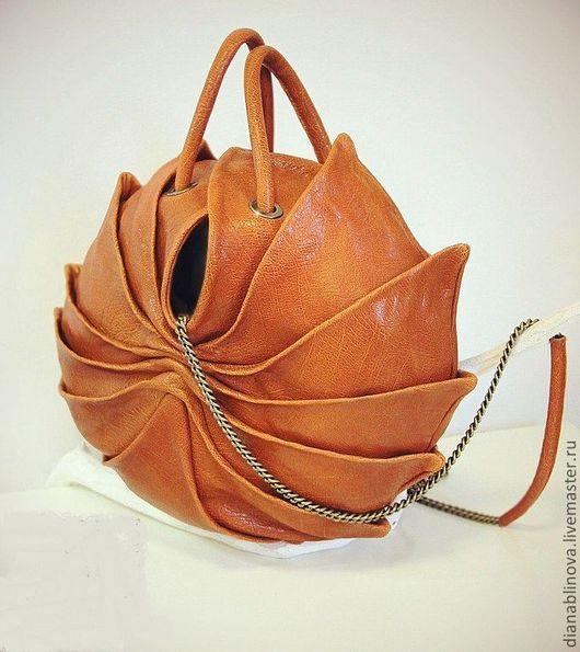 Женские сумки ручной работы. Ярмарка Мастеров - ручная работа. Купить Кокон макси. Handmade. Рыжий, кожа натуральная