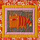 Кот Комод  - фрагмент одеяла