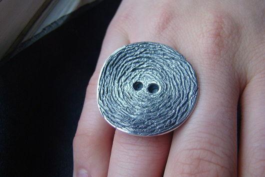 """Кольца ручной работы. Ярмарка Мастеров - ручная работа. Купить Кольцо """"Пуговица"""". Handmade. Пуговица, пуговица из серебра, серебряный"""