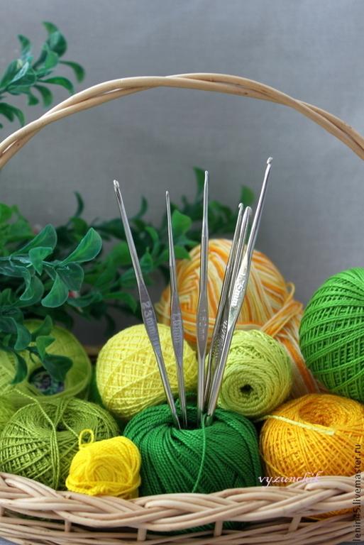 Вязание ручной работы. Ярмарка Мастеров - ручная работа. Купить Крючки для вязания 19 размеров. Handmade. Серебряный, крючки для вязания
