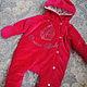 """Одежда ручной работы. Утепленный комбинезон для новорожденных """"Sweet Baby"""". Марина Делавье (delavier). Ярмарка Мастеров. Для новорожденной"""