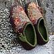 Обувь ручной работы. Заказать Тапочки - Розовые Сны. Светлана Моргунова ЭкоДиво. Ярмарка Мастеров. Тапочки домашние, сделано с любовью