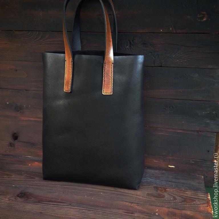 fb2e563d4602 Женские сумки ручной работы. Ярмарка Мастеров - ручная работа. Купить  Кожаная Сумка-шоппер ...