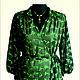 """Блузки ручной работы. Ярмарка Мастеров - ручная работа. Купить Блузка """"Черный лес"""". Handmade. Ярко-зелёный, блузка"""