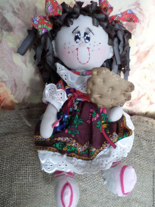 Куклы тыквоголовки ручной работы. Ярмарка Мастеров - ручная работа. Купить Ксюша. Handmade. Ярко-красный, пуговицы декоративные, синтепон