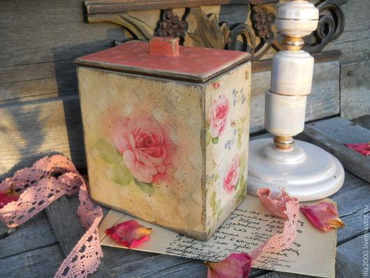 Кухня ручной работы. Ярмарка Мастеров - ручная работа. Купить Короб в стиле шебби Нежность. Handmade. Бледно-розовый, винтаж