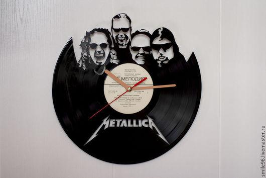 """Часы для дома ручной работы. Ярмарка Мастеров - ручная работа. Купить Часы """"Metallica"""". Handmade. Metallica, часы, виниловая пластинка"""