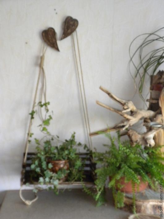 Экстерьер и дача ручной работы. Ярмарка Мастеров - ручная работа. Купить Качель садовая в винтажном стиле.. Handmade. Коричневый, дерево
