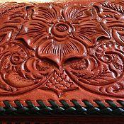 Сумки и аксессуары ручной работы. Ярмарка Мастеров - ручная работа Кошелек из кожи растительного  дубления. Handmade.