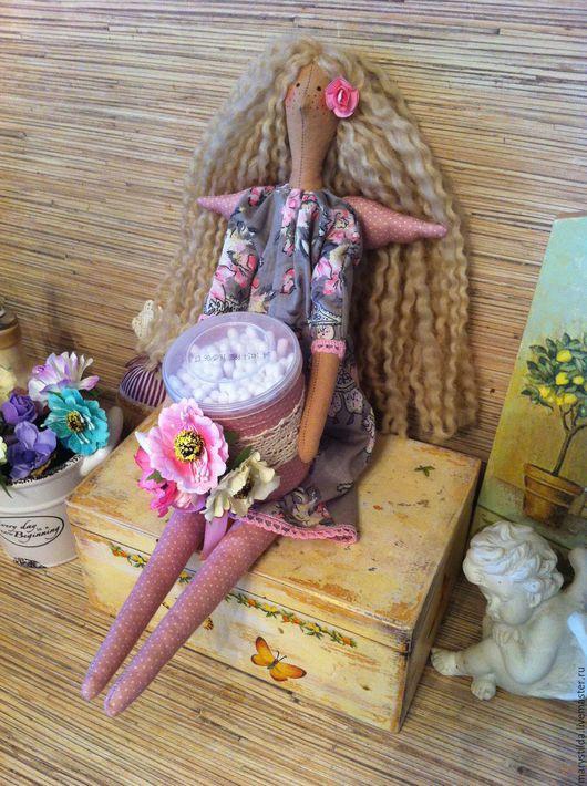 Куклы Тильды ручной работы. Ярмарка Мастеров - ручная работа. Купить Хранительница ватных палочек тильда фея ангел. Handmade.