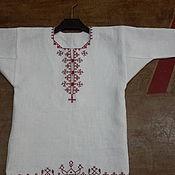 Русский стиль ручной работы. Ярмарка Мастеров - ручная работа Рубаха для девочки до 3 лет обережная с ручной вышивкой. Handmade.