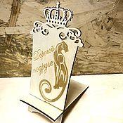 Подставки ручной работы. Ярмарка Мастеров - ручная работа Подставка под смартфон «Корона». Handmade.