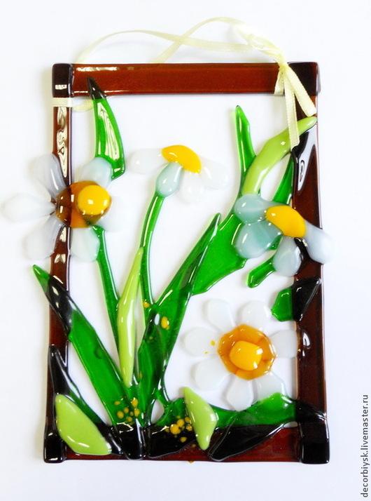 """Картины цветов ручной работы. Ярмарка Мастеров - ручная работа. Купить панно """"цветочки"""". Handmade. Разноцветный, подарок женщине, роза"""