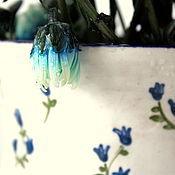 """Для дома и интерьера ручной работы. Ярмарка Мастеров - ручная работа Керамический кувшин """"Синий цветок"""". Handmade."""