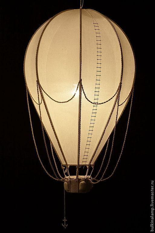 """Освещение ручной работы. Ярмарка Мастеров - ручная работа. Купить светильник """"воздушный шар"""". Handmade. Бежевый, светильник, каркас металл"""