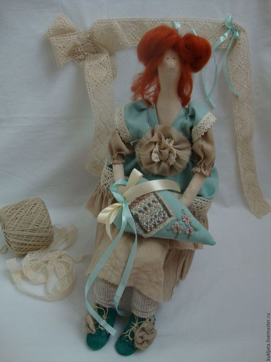 Куклы Тильды ручной работы. Ярмарка Мастеров - ручная работа. Купить Летти. Handmade. Мятный, кукла ручной работы, tilda