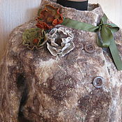 Одежда ручной работы. Ярмарка Мастеров - ручная работа Валяный жакет с флисом.. Handmade.