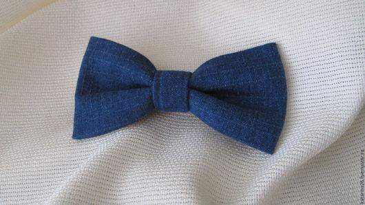 Галстуки, бабочки ручной работы. Ярмарка Мастеров - ручная работа. Купить Галстук бабочка. Handmade. Синий, однотонный, галстук-бабочка