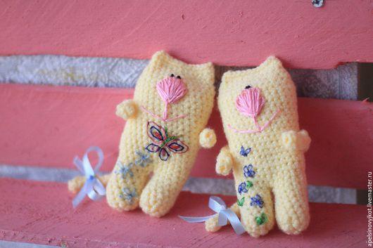 Игрушки животные, ручной работы. Ярмарка Мастеров - ручная работа. Купить котики. Handmade. Золотой, ручная работа handmade