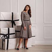 Платье в клетку с подъюбником look 375