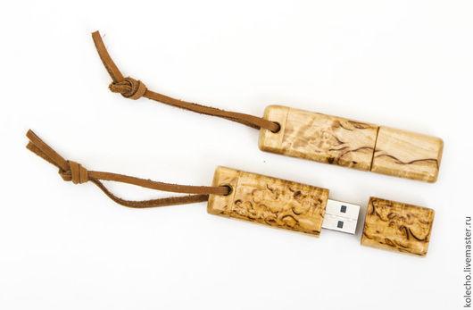 Компьютерные ручной работы. Ярмарка Мастеров - ручная работа. Купить Флешка в корпусе из карельской березы. Handmade. Бежевый, флешки из дерева