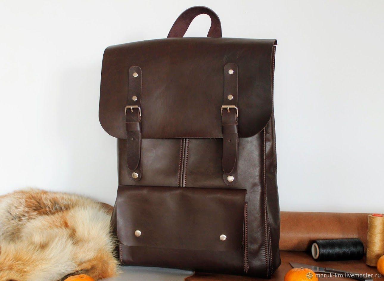 Рюкзак из натуральной кожи, Рюкзаки, Волжский,  Фото №1