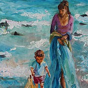 Картины и панно ручной работы. Ярмарка Мастеров - ручная работа Море - картина маслом на холсте. Handmade.