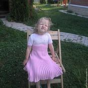 Работы для детей, ручной работы. Ярмарка Мастеров - ручная работа вязаное детское платье. Handmade.