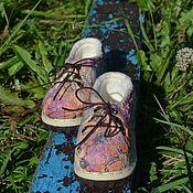 """Обувь ручной работы. Ярмарка Мастеров - ручная работа Кедики, детские, валяные """"Веселая прогулка"""". Handmade."""