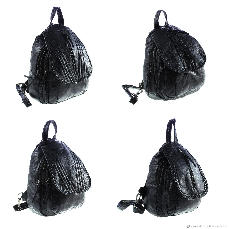 Рюкзак женский из экокожи (99). Цвет черный – купить в интернет ... e0f1f161a11