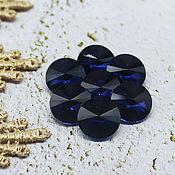 Материалы для творчества handmade. Livemaster - original item Glass rhinestones 12 mm Rivoli Montana. Handmade.