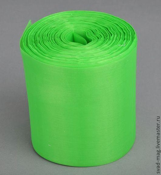 Аппликации, вставки, отделка ручной работы. Ярмарка Мастеров - ручная работа. Купить Лента нейлон 100 мм, светло-зеленый (90 м), арт N100-22-31. Handmade.