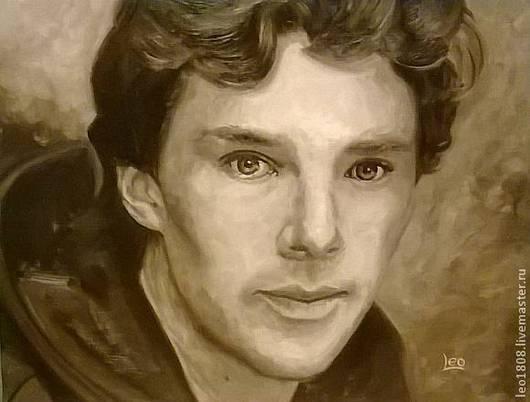 Люди, ручной работы. Ярмарка Мастеров - ручная работа. Купить Портрет одного мужчины. Handmade. Холмс, шерлок, шерлок холмс