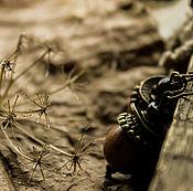 Украшения ручной работы. Ярмарка Мастеров - ручная работа Желуди  -серьги. Handmade.