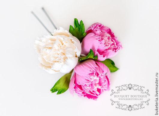 Свадебные украшения ручной работы. Ярмарка Мастеров - ручная работа. Купить Цветы для прически. Handmade. Цветы из полимерной глины
